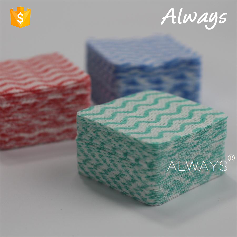 Disposable wave printing household wipes nonwoven clean paper OEM in China