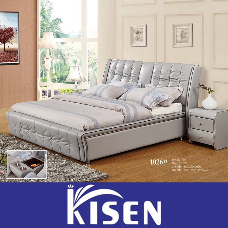 moderne m bel king size lederkopfteil bett 1026 bett. Black Bedroom Furniture Sets. Home Design Ideas