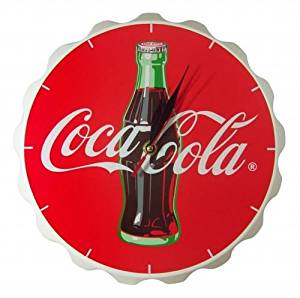 Coca Cola Wooden Fishtail Design Bottle Cap Shape Wall Clock Reto Vintage