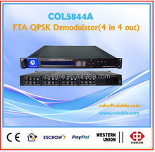 FTA satellite receiver ,4 channel qpsk demodulator COL5844A
