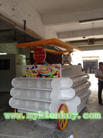 Retail sugar nut cotton candy cart for shopping mall