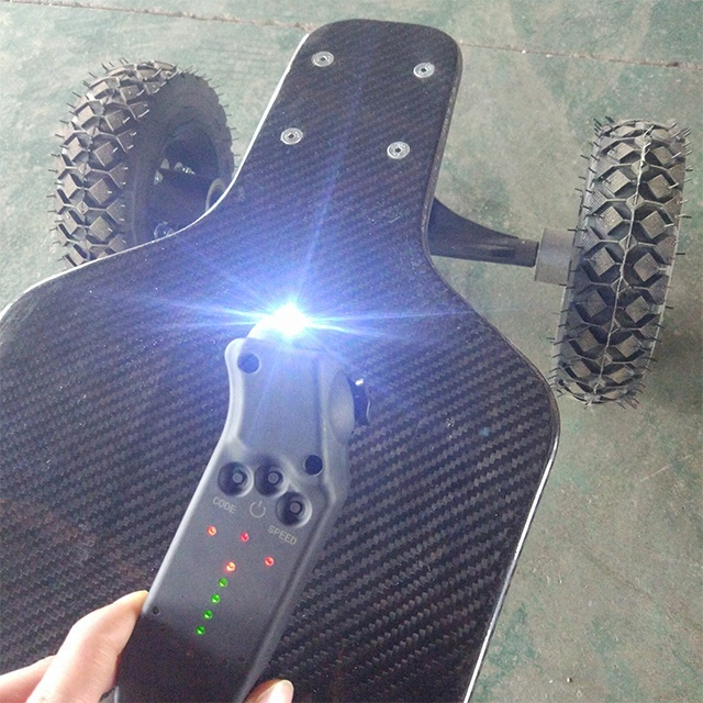 Off road 1600W*2 Carbon fiber lithium battery 4 wheel boosted Electric Skateboard