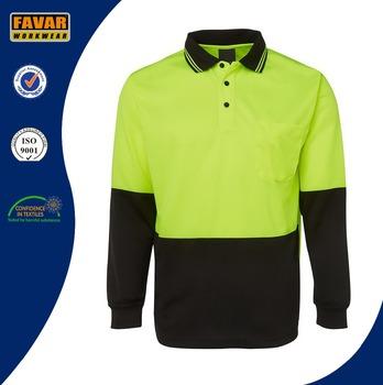 6165ab2aeb Transpirable camisa de manga larga de polo de trabajo uniforme  personalizado micro malla de polo