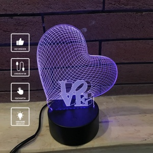 March Festival 7 Color Touchable Switch Customized 3D Illusion Unicorn LED Desk Table Night Light Lamp for Baby Gift