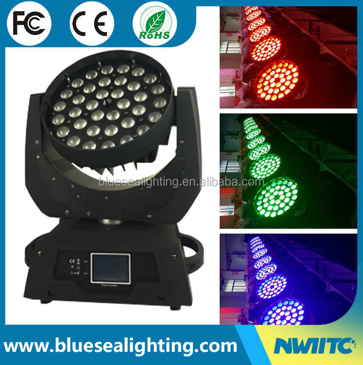 Pro dj disco stage light 36 x 18w RGBWA UV 6in1 zoom wash led moving head