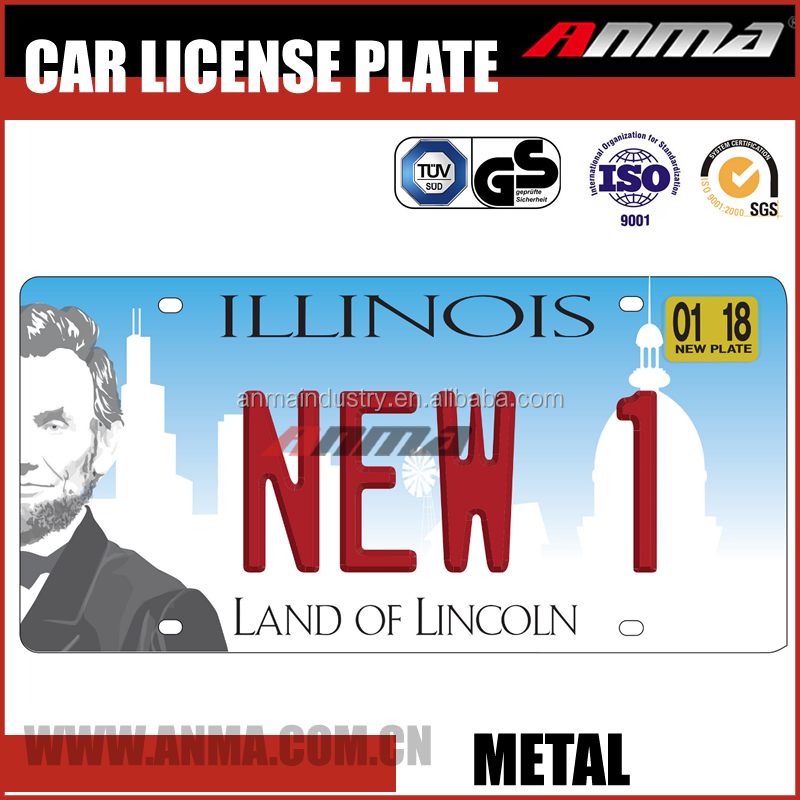 souvenir Aluminum Wholesale custom US car license plate