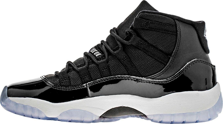 1210b5aae92de0 Get Quotations · Nike Air Jordan 11 Retro Space Jam 2016 Grade School Big  Youth Black Concord White 378038