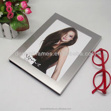Silver metal alloy picture photo frames stand shop