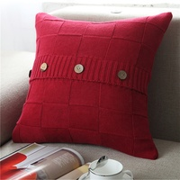 Cheersee factory manufacturer bed pillow cover red big square throw home decorative custom plush pillow for home boho decor