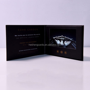 Creative Paper Thin LCD TV in A Card ,Video Greeting Card for Advertisement