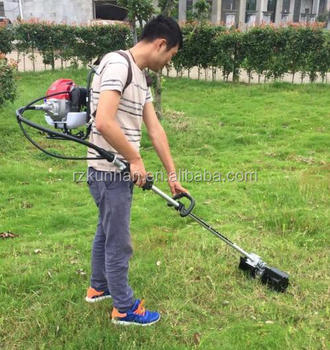 High Quality Two Stroke Four Knapsack Gasoline Ride On Lawn Mower