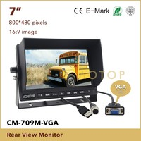 Car Rearview Parking TFT LCD Monitor 7 Inch Monitor With AV Input