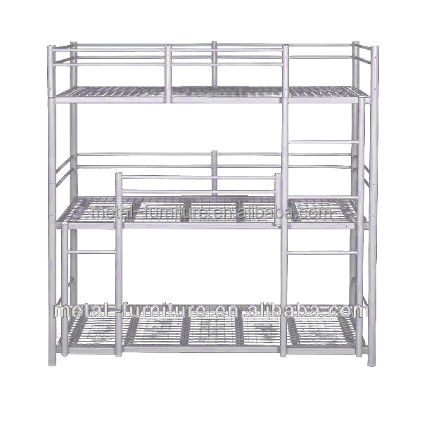 Metal Steel 3 Tier Bunk Bed Square Tube Bed Beds Frames Buy 3 Tier Bunk Bed Square Tube Bed Beds Frames Product On Alibaba Com