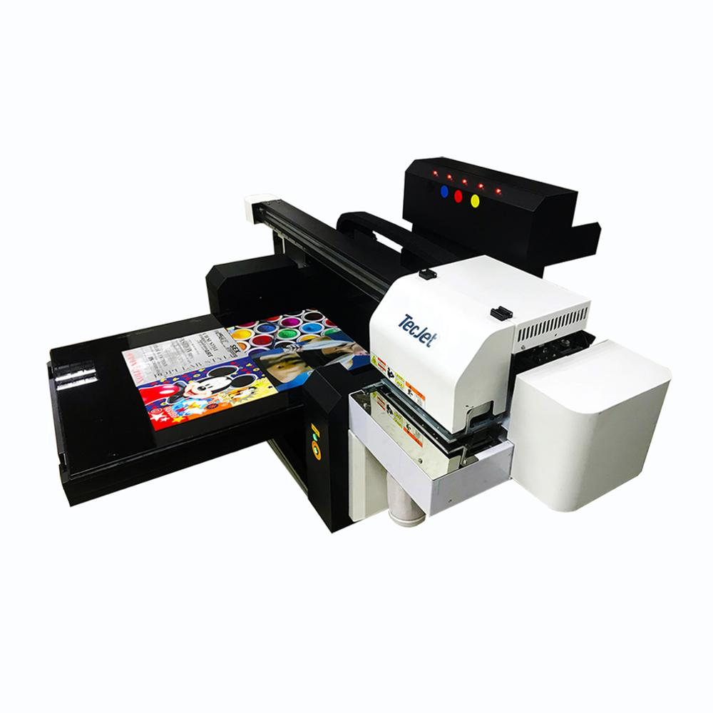 A4 size uv curent flatbed printer metal aluminium plate tin can metal box aluminium printing machine for sale