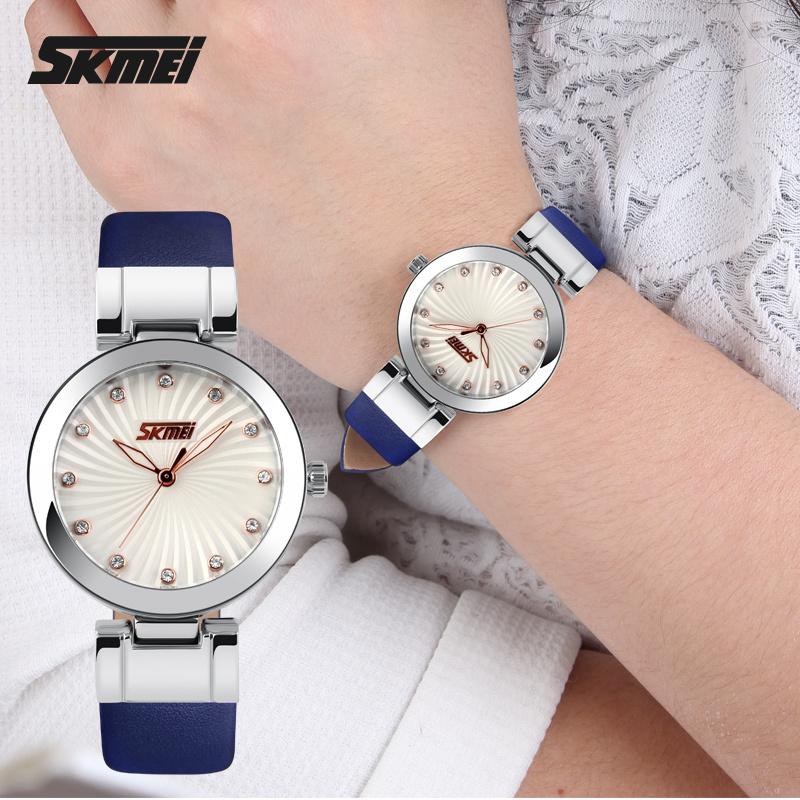 2e7326385 SKMEI 9086 Hot Sale ladies fashion white watch leather belt wrist watch