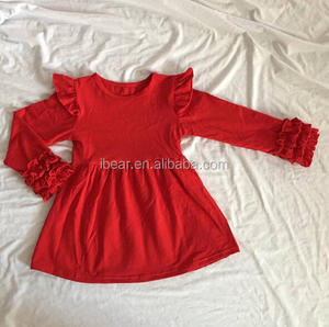 kids wear bangladesh red long sleeve ruffle newborn baby best dress for farewell party