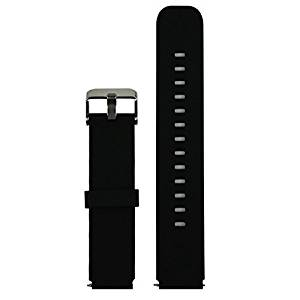 Huawei Watch Band 18mm, Ecsem® Replacement Silicone Watch Strap Bracelet for Huawei Smart Watch /No Tracer or other parts(Silicone, Black)