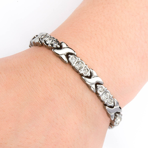 Newest screw cuff bracelet with screw plain stainless steel bangle