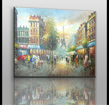 Artwork Paris Street People Walking Canvas Oil Painting Zq 21 New Product Buy Chinese Oil Painting Reproductions All Sex Picture Radha Krishna Glass