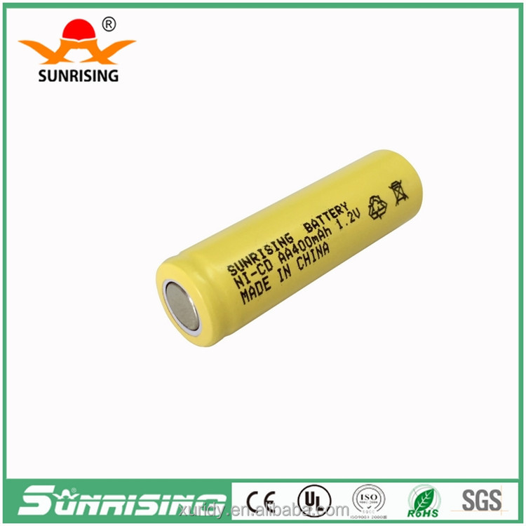 Ni-cd aa 400mah 1.2v rechargeable battery with more than 500 times circle