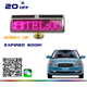 New!Bluetooth phone programmable with solar panel LED moving worldwide language message display board LED pink mini car sign