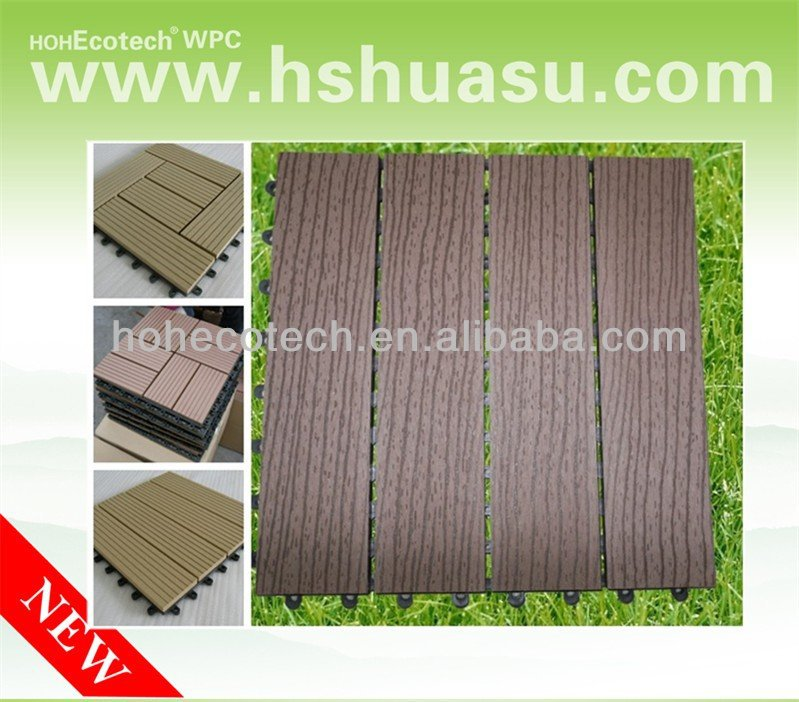 4 direction easy install waterproof ANTI-UV hollow WPC tile