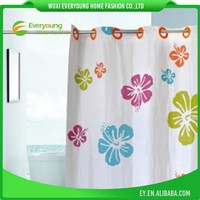 Hotel Bathroom Shower Curtain With Liner