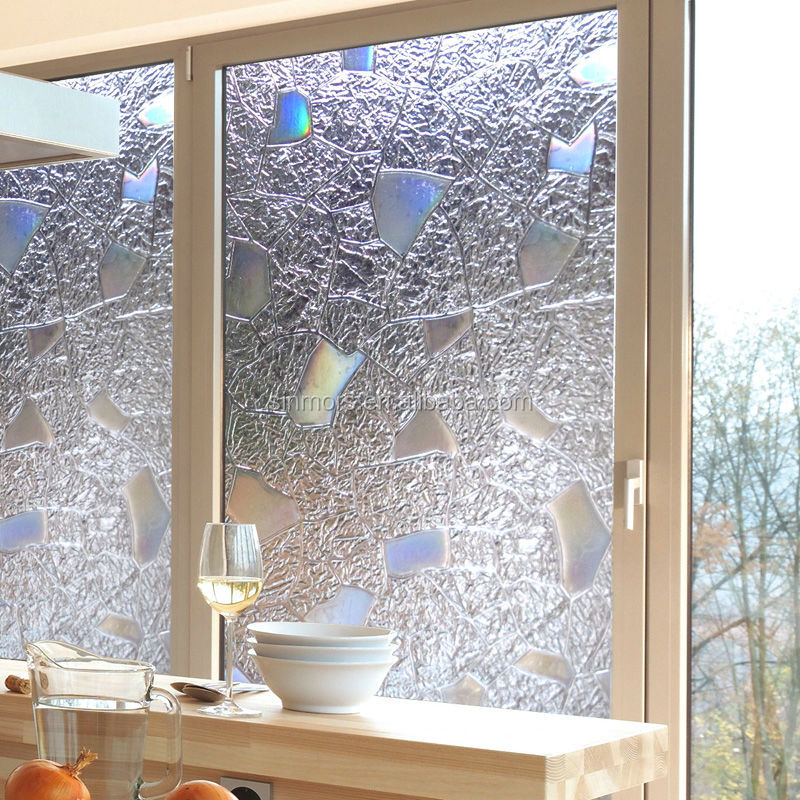 Verwijderbare Raamsticker Badkamer,Statische Raamfolie Gekleurd Glas ...