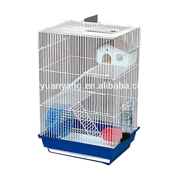 luxury metal hamster ferret cage case with plastic house