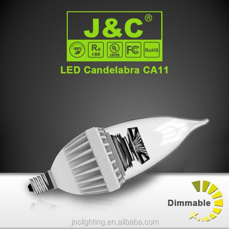 J&c Lighting E12 Candelabra Led Bulb 120v 60w Equivalent Dimmable ...