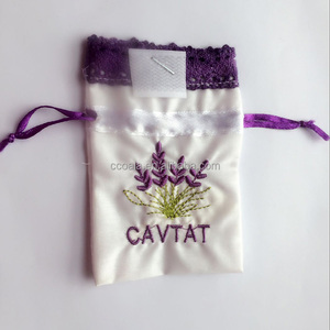 Lavender Organza Drawstring Gift Bag Pouch Wrap for Party And Wedding
