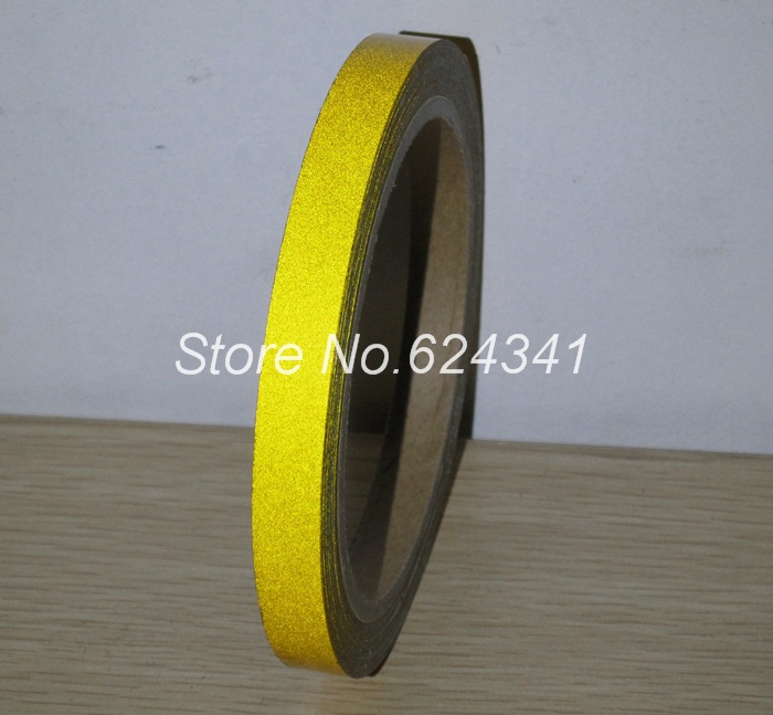 Желтые светоотражающие ленты самоклеящиеся 10 мм x 10 м RT062