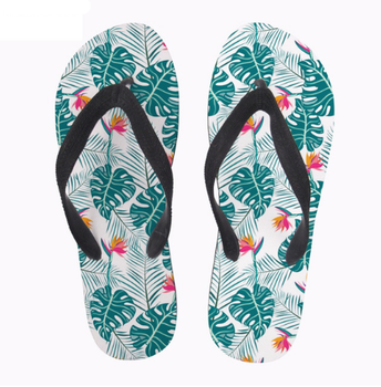 cbb2ab804 Palm leaf pattern Women Summer Rubber Slip-on Flip Flops Woman s Slippers  Shoes Student Summer. View larger image