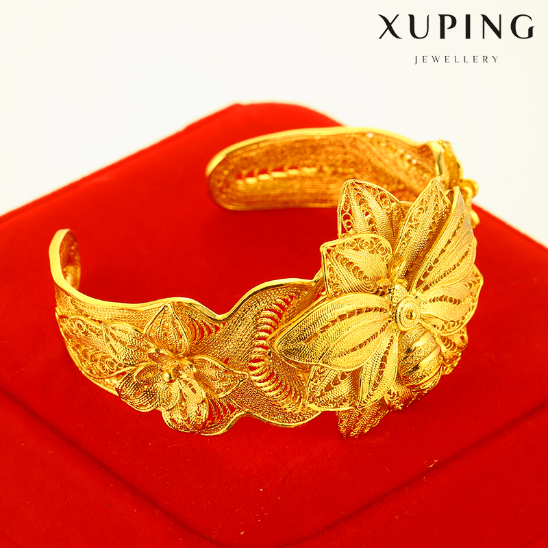 Xuping Gold Jewellery Dubai Brass Luxury Flower Bridal Engagement