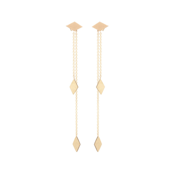 dangle small minimal gold disk simple chain plated earrings women item coin color earring golden long modern