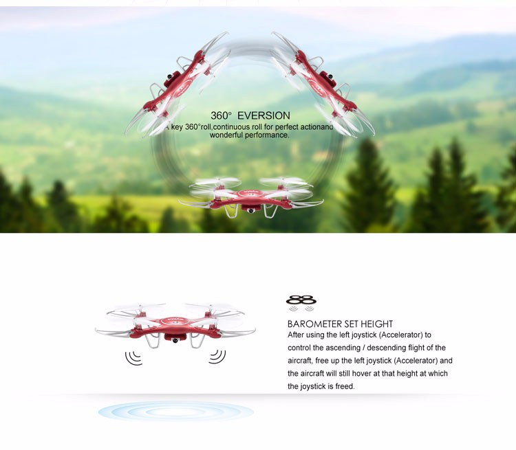 2017 Newest Product 2.4G 4-Channel 6-Axis Hieight Hold Rc Quadcopter Drone
