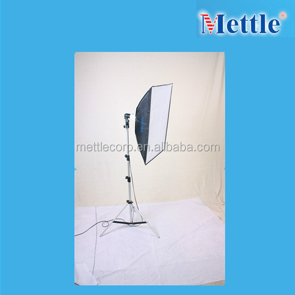 mettle 20w photographic slave flash light with softbox