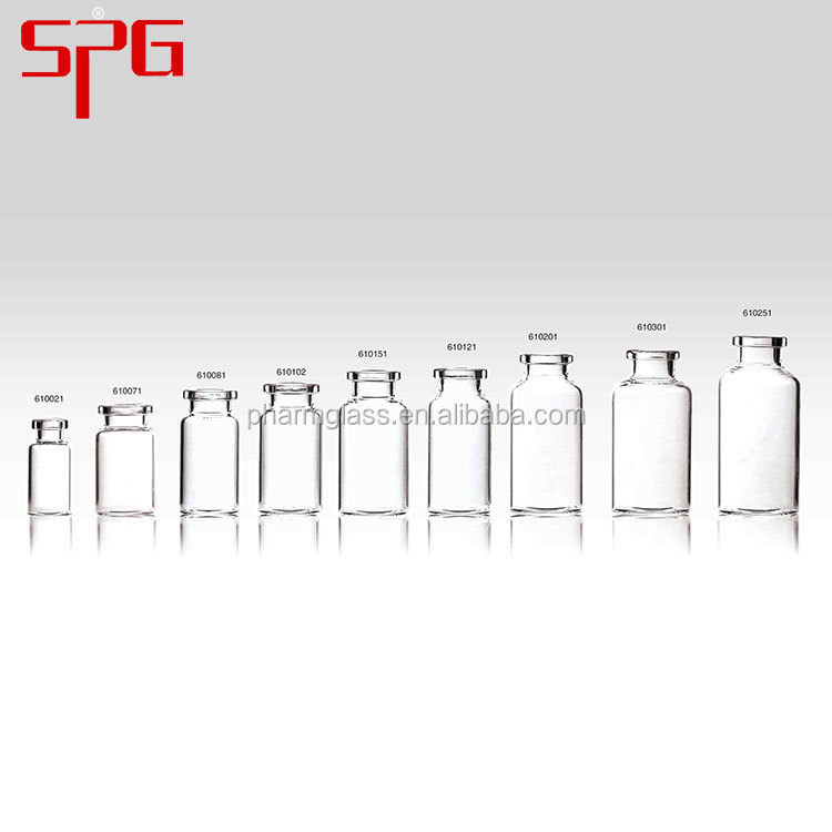 Trustworthy china supplier 8ml clear molded injection vials for antibiotics pharmaceutical glass bottle
