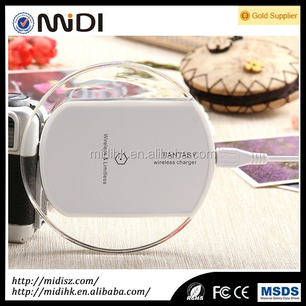 Cute high quality qi wireless charger for iphone for samsung
