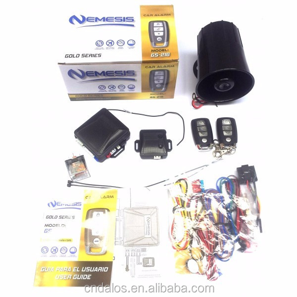 ALARMA NEMESIS GOLD SERIES, 2 CONTROLES, ANTIATRACO, GARANTIA