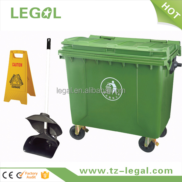 plastic container with handle clear disposable waste bin shipping container for sale