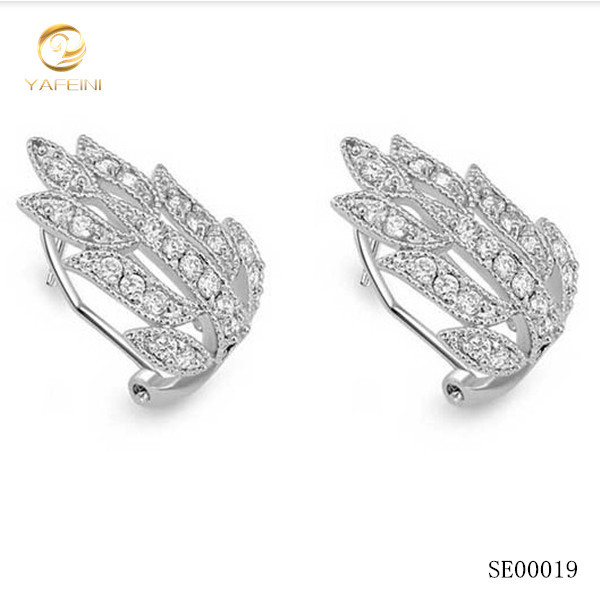 Latest Design Diamond Earring Angel Wing Earring/simple Design ...