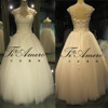 2015 Latest Fahion Dresses Top Quality China Factory Made/Cap Sleeve French Lace Appliqued Princess Wedding Dresses