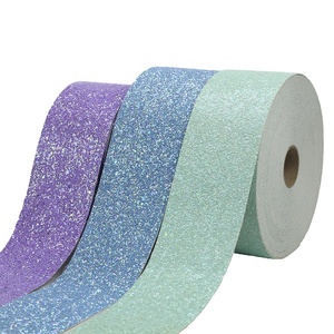 Sparkly Purple Green Blue Faux Leather Glitter Ribbon For Hair Bows Making,Decoration DIY Crafts