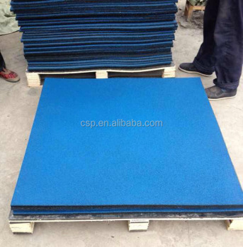 Shock Proof Rubber Floor Tiles 40mm Thick Rubber Tile Mat