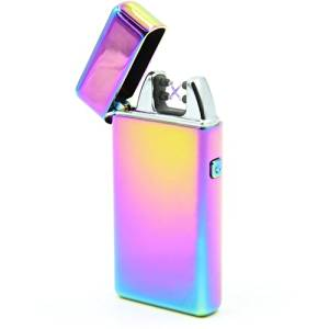 DaLanZom Ultrathin USB Rechargeable Windproof Electric Plasma Arc Lighter Set with USB Charging Cable