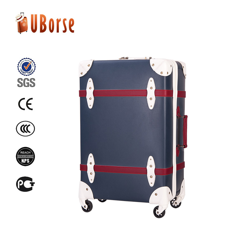Customized zipper travel trolley luggage suitcase with 3 pieces luggage set