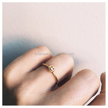 Cute Simple Jewelry Design 925 Sterling Silver Simple Plain Smile