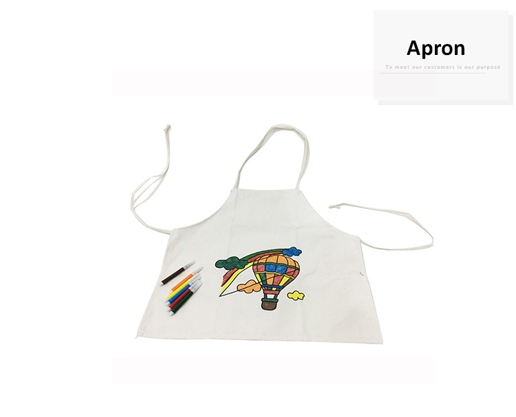 Children Colouring Coloring Drawing Doodle Natural Canvas kids creative diy painting cotton apron