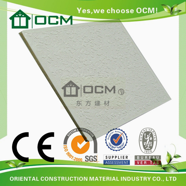 Eco-friendly fireproof pvc tongue and groove ceiling